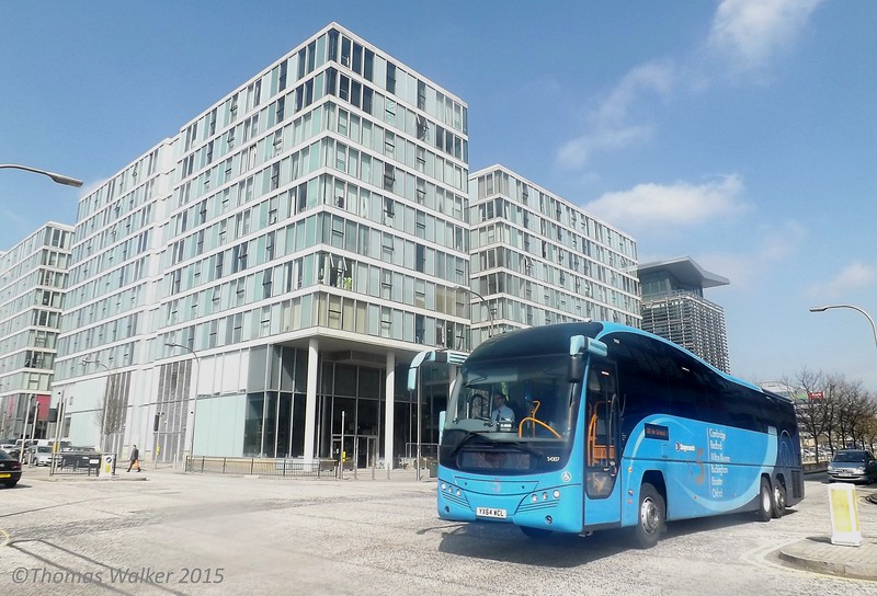 Stagecoach Volvo B11 YX64WCL 54307 passing The Hub:MK, 07/04/2015.