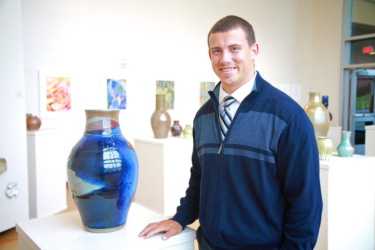 Art show in the Tucker Student Center Gallery.