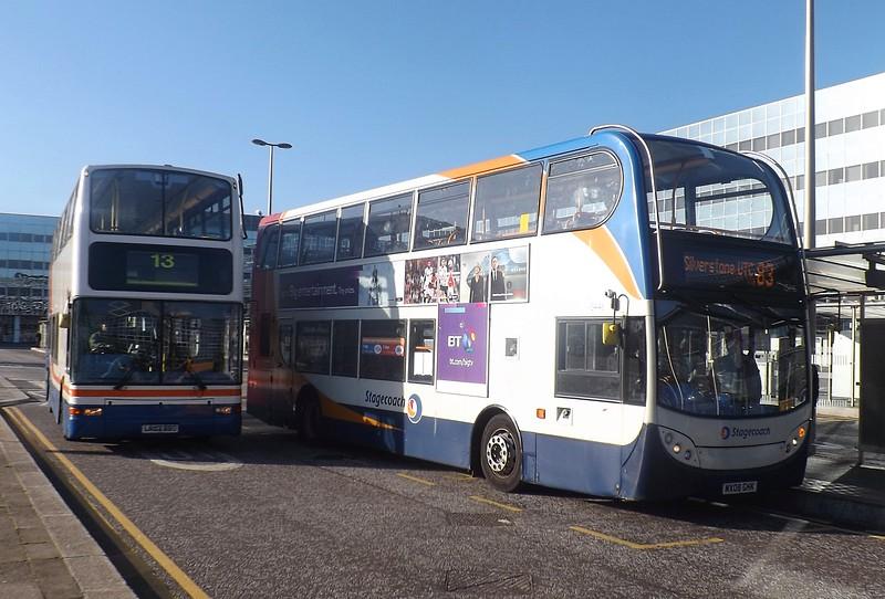The daily Stagecoach 83 to Silverstone, Milton Keynes, 28/04/2015.
