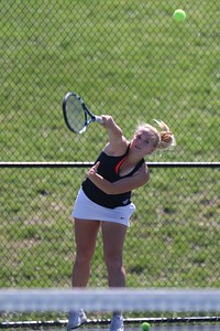 Womens Tennis competes against PC April1, 2015