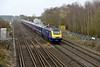 5 April 2015 :: Worting Junction plays host to a FGW High Speed Train in the form of 1O36, the 0753 Exeter St Davids to Waterloo lead by 43032