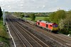 30 April 2015 :: 60024 is passing Lower Basildon and the train is 6X01, rails from Scunthorpe to Eastleigh