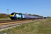 12 April 2015 :: Plymouth at Worting!!  Diverted First Great Western HST showing power car 43163 at Worting and the service is 1O37, the 0840 Plymouth to Waterloo