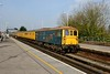 16 April 2015 :: Network Rail test train 1Q11 from Eastleigh to Hither Green is led  through Basingstoke by 73201
