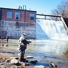 JOED VIERA/STAFF PHOTOGRAPHER- Burt, NY-Phil Brogan of Ohio looks to make a catch at Fishermen's Park. April 1, 2015.