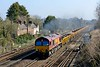 6 April 2015 :: 66148 is working spent ballast train 6R91 from Reading to Eastleigh at Worting