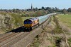 14 April 2015 :: Taken from the more classic location at Kings Sutton is 66006 working 4M52 from Southampton to Castle Bromwich