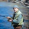 JOED VIERA/STAFF PHOTOGRAPHER- Burt, NY-Ed Meiser of Pennsylvania looks to make a catch at Fishermen's Park. April 1, 2015.