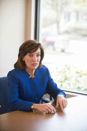 JOED VIERA/STAFF PHOTOGRAPHER-Lockport, NY-Lieutenant Governor Kathy Hochul speaks to the US&J Staff.