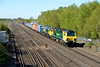 27 April 2015 :: 70019 along with 66954 is seen at Worting on 4M28 from Southampton to Ditton