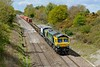 30 April 2015 :: In Powerhaul livery,  66416 is pictured at Baulking with 4L32 from Bristol to Tilbury