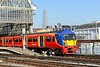 23 April 2015 :: Now painted in South West Trains red, 456017 is arriving at Waterloo with 2J48, the 1554 from Hampton Court