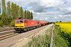 30 April 2015 :: 60091 is held at the red signal waiting to leave Challow Loop with 6B33 from Theale to Robeston