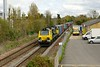 25 April 2015 :: 70001 is approaching Overton Station and the train is 4O54 from Leeds to Southampton