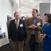 JOED VIERA/STAFF PHOTOGRAPHER-Lockport, NY- Yahoo Co-Founder David Filo (center) gives Assemblyman John Ceretto and Lieutenant Governor Kathy Hochul  a tour of the company's second Data Center built in Lockport's IDA Park.