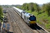 14 April 2015 :: Seen passing Aynho Junction is 68013 leading 1G25, the 1045 Marylebone to Birmingham Snow Hill