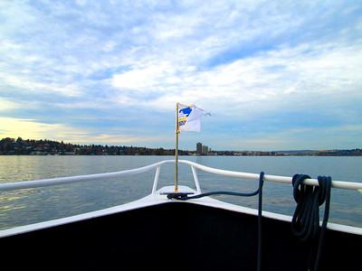 Front of our Argosy Cruise Ship on Lake Washington, Seattle