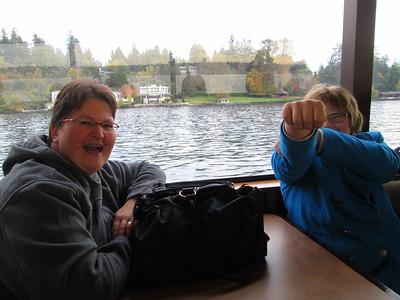 Rachel Blasting Dan With Her Buzz Lightyear Laser on the Argosy Lakes Cruise in Seattle