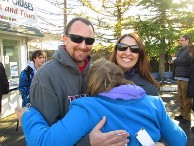 Dan and I Giving Rachel a Big Hug As We Wait to Board Our Argosy Cruise Around Lake Washington and Lake Union