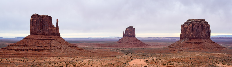 The Mittens and Merrick Butte from John Wayne Lookout