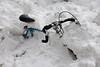 Bike in snow, Jan. 28