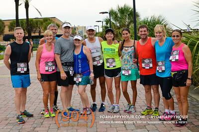 Tour De Pain 2015: 4 Mile Beach Run @ Jacksonville Beach - 8.7.15