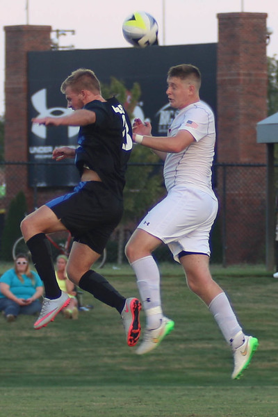 Gardner-Webb students, faculty, staff, and fans filled the stands last night at the first home Men's Soccer game to cheer on our team and enjoy some free wings. The game ended in a draw 1-1 vs Brevard University.
