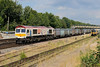8 August 2015 :: 66721 is pictured at Basingstoke with gypsum train 4Y19 from Mountfield to Southampton