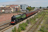 12 August 2015 :: The classic view from Campbell Road Bridge of LNER B1 Class 4-6-0 no 61306 'Mayflower'  working The Dorset Coast Express, train 1Z67 from Victoria to Weymouth