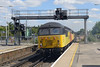7 August 2015 :: Another view of 56087 and 56105 at Basingstoke and OC52 from Eastleigh to Tyne Yard