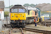 4 August 2015 :: A front on view of 47739 looking somewhat out of line with the track