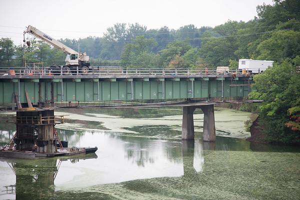JOED VIERA/STAFF PHOTOGRAPHER-Burt, NY-Construction continues on the Burt-Wilson Bridge