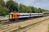 8 August 2015 :: In its revised South west Trains livery, 159103 is seen at Basingstoke on 1L43, 1450 Waterloo to Salisbury