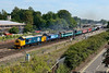 """22 August 2015 :: 37401 / 37405 are seen at Basingstoke at the sharp end of """"The Bournemouth Flyer"""", 1Z37 the 0616 from Chester to Bournemouth"""