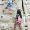 JOED VIERA/STAFF PHOTOGRAPHER-Lockport, NY-Keiarri Hill (6) and Kasia Robinson 5 climb the wall at Day Road Park.