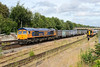 3 August 2015 :: August has bought a change of locomotive on the Gypsum train from Mountfield to Southampton (4Y19) in the form of 66758 which is seen on the approach to Basingstoke station