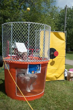 JOED VIERA/STAFF PHOTOGRAPHER-Lockport, NY-Liz Anderson 18 gets dunked at the Niagara County Fair.