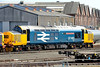 "22 August 2015 :: A closer look at 37401 ""Mary Queen of Scots"" at Eastleigh"
