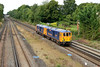 """27 August 2015 :: Todays 0Y62 from Eastleigh to Tonbridge featured """"Super ED's"""" 73962+73964 and these locomotives are seen approaching Hook"""