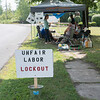 JOED VIERA/STAFF PHOTOGRAPHER-Lockport, NY- United Steel Workers picket outside of ATI during a lock-out at the Lockport steel plant.