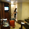 Our room on the ship. Not bad for an interior room!