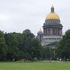 View of the gold dome of St. Isaac's Cathedral