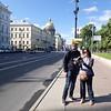 Start of our walk down Nevsky Prospekt