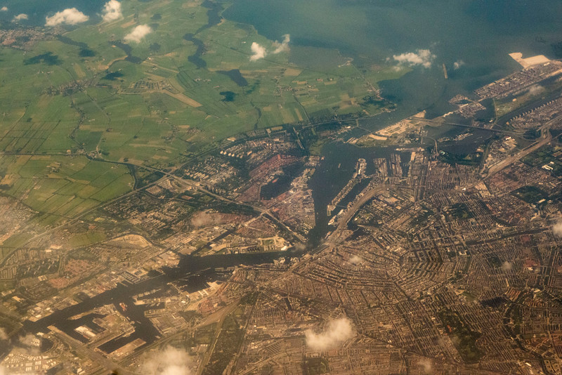 Amsterdam from the air