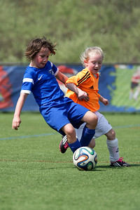 Anya playing for the Boston Breakers Academy U9 West Elite