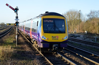 170308 (Now 168328) on a Cleethorpes to Manchester service