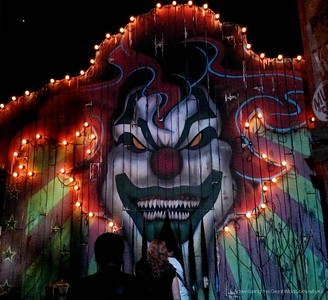 The Monsters and Mayhem House Entrance at Halloween Horror Nights 25