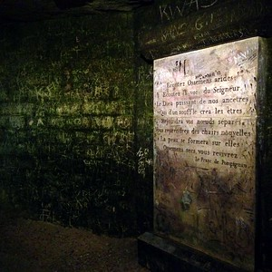 The Graffitti at the End of the Paris Catacombs Makes this Look Like Something Out of a Horror Video Game