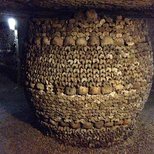 This Urn Shaped Structure in the Paris Catacombs is Made Entirely of Bones