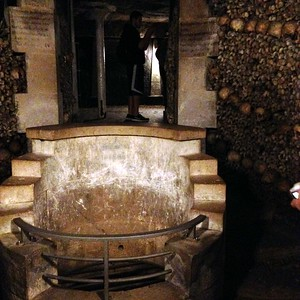 What Appears to be a Well Deep in the Catacombs of Paris